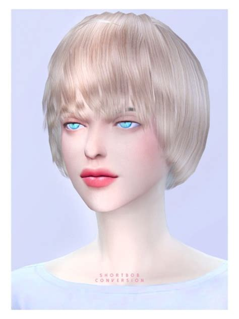 sims 4 short hair sims 4 hairs black le short bob hairstyle conversion