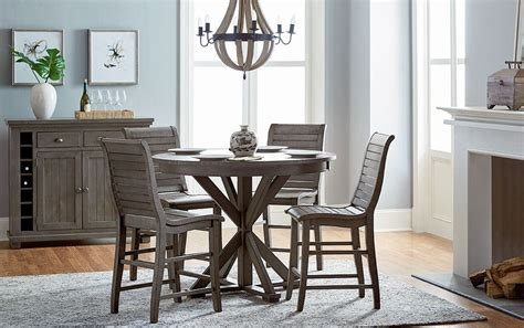 willow distressed dark gray  counter height dining