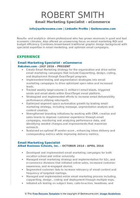 email marketing resume resume ideas