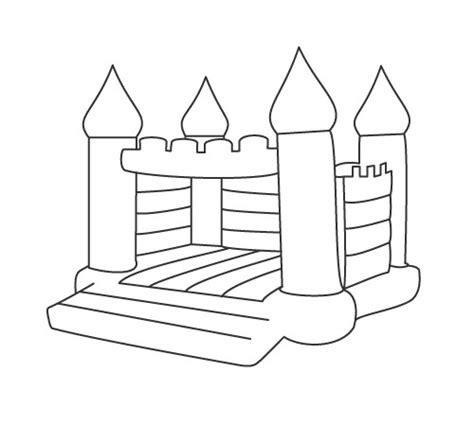 bouncy castle coloring page bouncy castle coloring pages