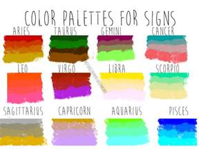 zodiac sign colors color palettes for zodiac signs by redhotchillipeppers on