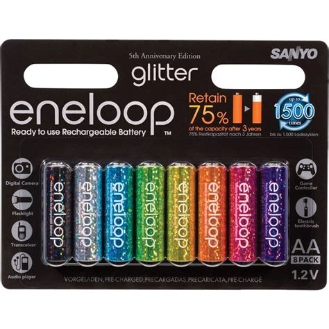 Baterai Batere Sanyo Enelop Aa Rechargeable Bisa Di Cas Ulang 1 sanyo eneloop glitter aa rechargeable ni mh 8hr3utga gl b h