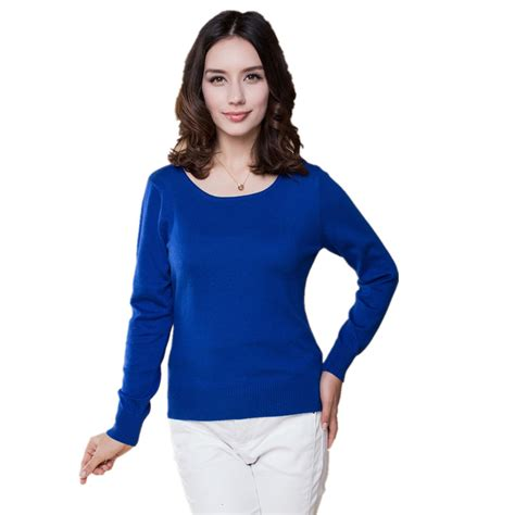 Sweater Wanita Fashion Garsel 7 2016 sweater sweaters and pullovers fashion o neck solid color sleeve