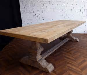 grande et table de ferme monast 232 re en bois brut