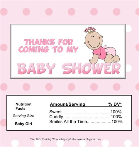 visitor pattern wrapper baby shower candy wrappers templates free