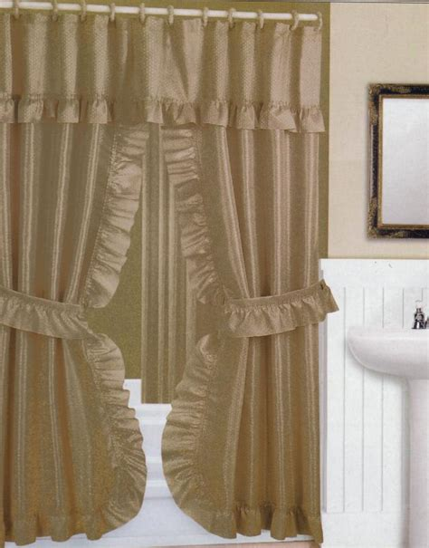double swag shower curtains with valance double swag shower curtain with valance furniture ideas