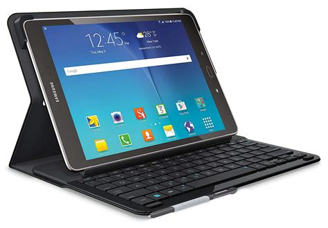 logitech type s bluetooth keyboard stand samsung galaxy tab a 9 7 quot black 97855115683 ebay