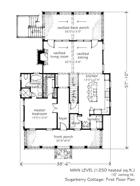 sugarberry cottage floor plan 1 825 sq ft sugarberry cottage l mitchell ginn
