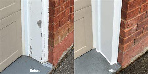 Capping Garage Door Frame Stop Repainting The Frames Around Your Garage Doors Cap Them Overhead Door