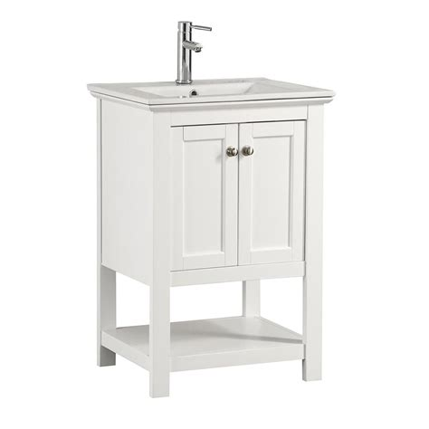 fresca bathroom vanity fresca cambridge 24 in vanity in white with porcelain vanity top in white with white