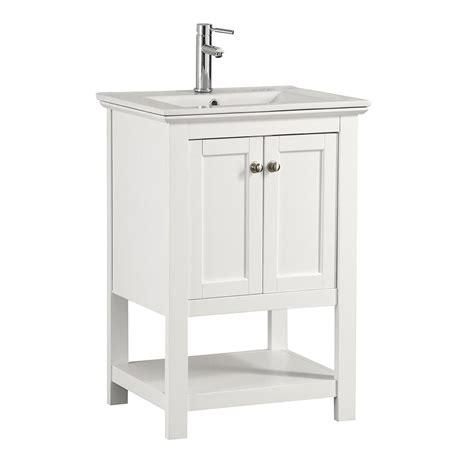 fresca vanity fresca cambridge 24 in vanity in white with porcelain