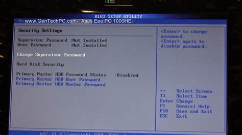 Asus Laptop Bios Upgrade asus eeepc 1000he bios 720p hd