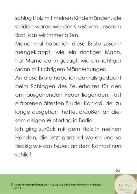 Biografie Beispiel by Eine Biografie Schreiben Lassen