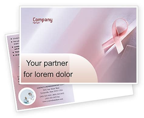 breast cancer powerpoint template breast cancer awareness postcard template in microsoft