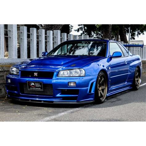 nissan r34 nissan skyline gt r r34 bayside blue for sale import jdm