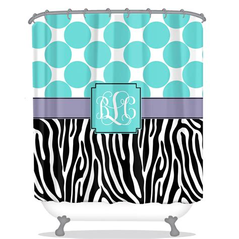 Personalized Shower Curtains Zebra Personalized Shower Curtain Monogrammed Shower Curtain Custom Shower Curtain