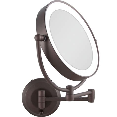 black lighted makeup mirror zadro 1x 10x cordless led lighted wall mount makeup mirror