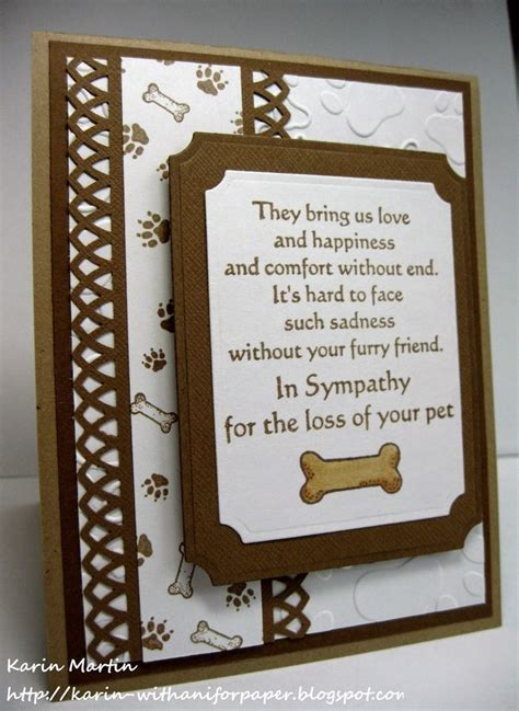 Handmade Sympathy Cards Verses - 25 best ideas about pet sympathy cards on