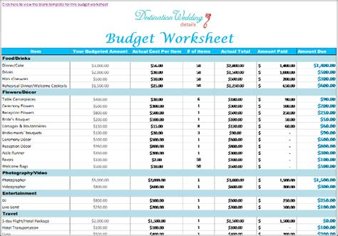 wedding spreadsheet templates simple destination wedding planning spreadsheets