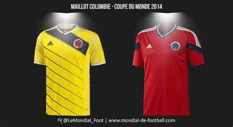 coupe du monde de football 2014 les maillots de la colombie pour la coupe du monde 2014