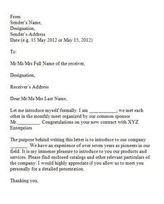 Introduction Letter For New Travel Business business introduction letter to new client
