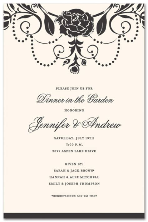 Business Dinner Invitation Template Resume Builder Formal Dinner Invitation Template