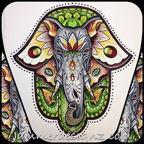 elephant hamsa tattoo the world s catalog of ideas