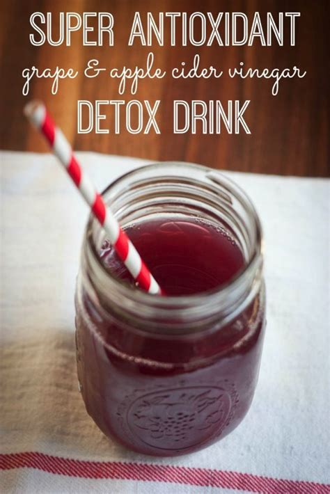 Detox Water Recipes Grapes by Antioxidant Grape And Apple Cider Vinegar Detox