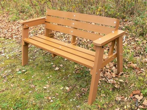 wood garden bench recycled plastic garden bench 3 seater