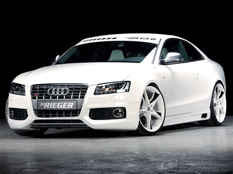 Audi S5 B8 by Rieger Front Bumper Lip Spoiler For Audi S5 B8