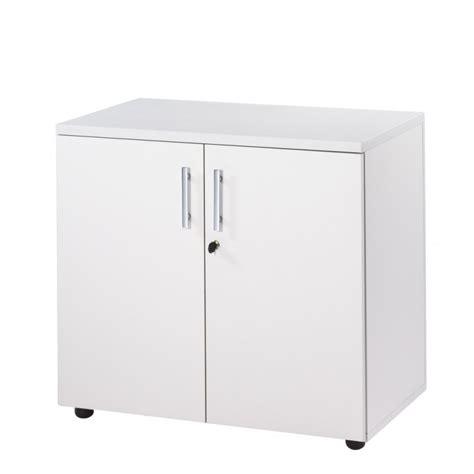armoire basse bureau armoire de bureau basse 2 portes blanche ineo beaux