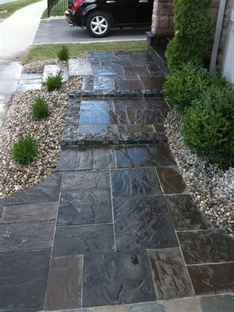 front entrance walkway and steps traditional landscape toronto by extreme landscape inc