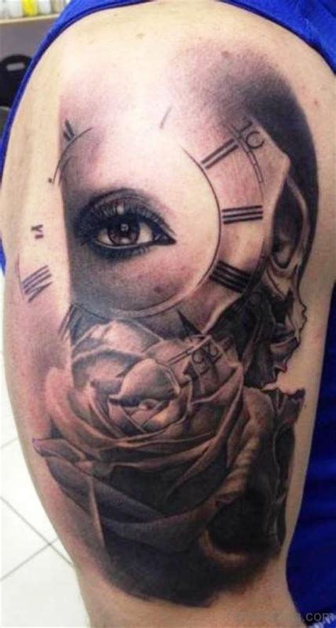 tattoo eye shoulder 65 perfect clock tattoos on shoulder