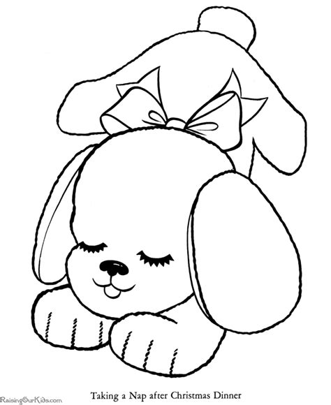 christmas coloring pages christmas dog