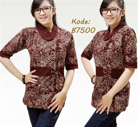 25 contoh model batik kerja terpopuler 2018 model baju terbaru 2018