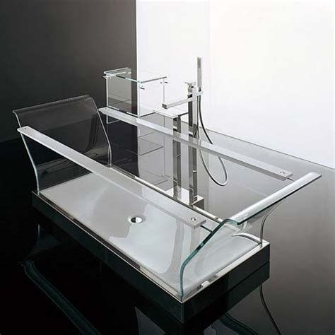 glass bathtubs fully transparent glass bathtub from novellini freshome com