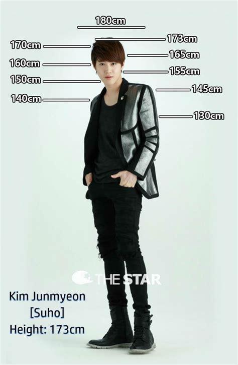 exo xiumin height height chart suho exo things pinterest suho