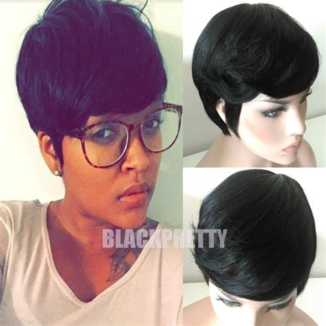 short cut with janet hair fashion black brazilian hair full lace wig short cut