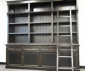 Bookshelves Library Style Three Bay Provincial Style Library Bookcase With