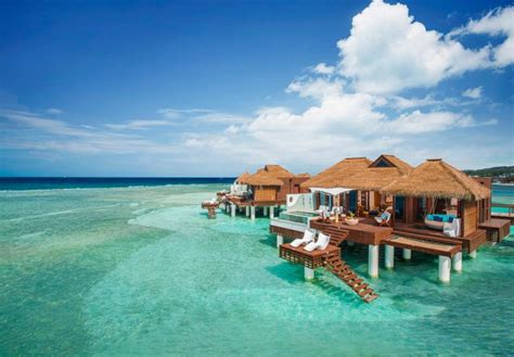 the water bungalows sandals 12 new water bungalows in jamaica 187 best all
