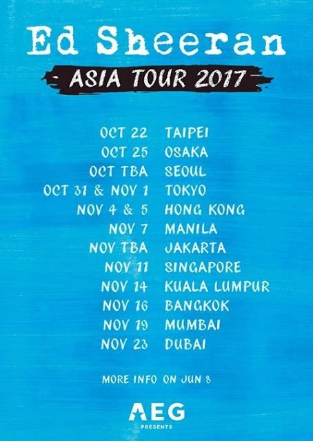 ed sheeran jakarta show will ed sheeran tour india for divide quora