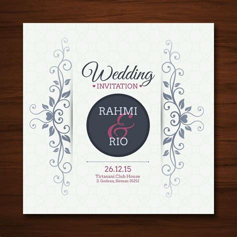 Jual Undangan Pernikahan Murah 84 jual cetak kartu undangan pernikahan desain unik nuansa romantis harga murah soft