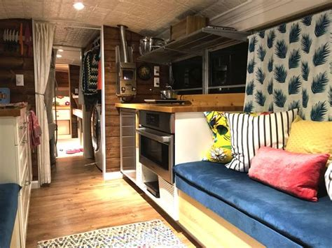 big bertha  modern school bus conversion  home
