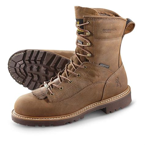 browning boots s browning 174 8 quot waterproof 600 gram thinsulate ultra