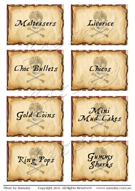 printable pirate labels pirate party labels sassaby parties