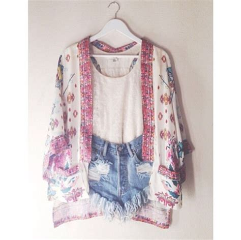 cute pattern clothes jacket kimono cardigan blouse pattern clothes summer