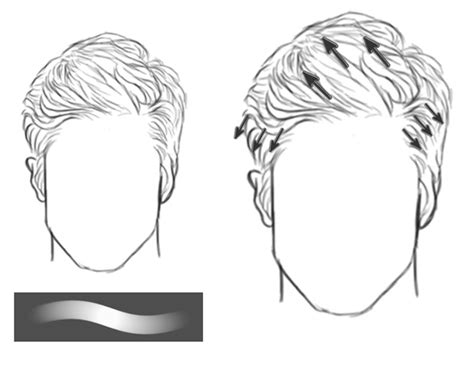 how to draw a pompadour how to paint realistic hair in adobe photoshop short hair