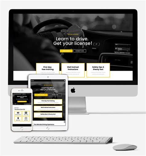 Free Elementor Template For A Driving School Homepage Elementor Den Free Elementor Templates