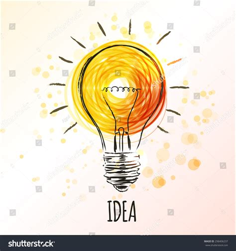 doodle or sign up genius light bulb sketch concept idea doodle stock vector