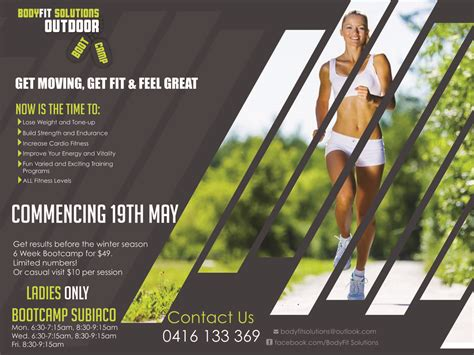 fitness boot c flyer template bold serious flyer design for tonia lamond by lachoy g